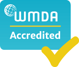WMDA Accrediation Logo